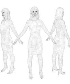 animation-3Dmodel-People-japan-casual-wire