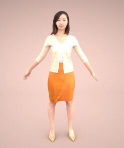 mixamo-animation-3Dmodel-Human-asian-casual