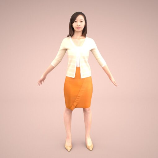 mixamo-animation-3Dmodel-Human-asian-casual