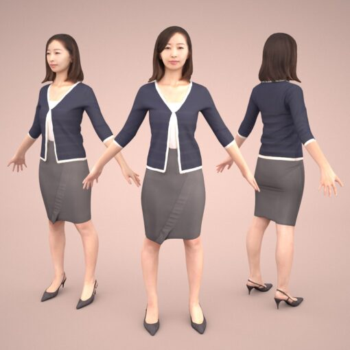 animation-3Dmodel-Human-asian-casual-rig
