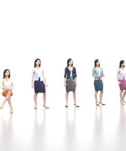 animation-3Dmodel-Human-asian-casual-woman