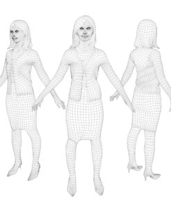 animation-3Dmodel-Human-asian-casual-wire