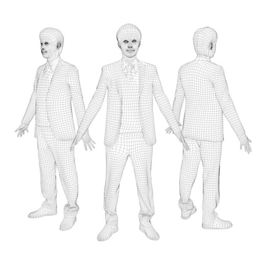 3D-PEOPLE-asian-business-wireframe