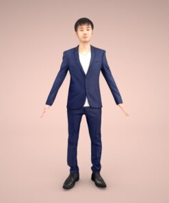 FBX-animation-3Dmodel-Human-asian-casual