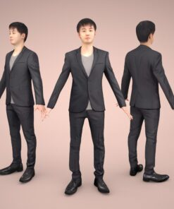 C4D-animation-3Dmodel-Human-asian-casual