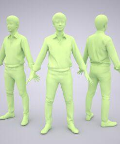 Animation-3Dmodel-Human-Asian-casual