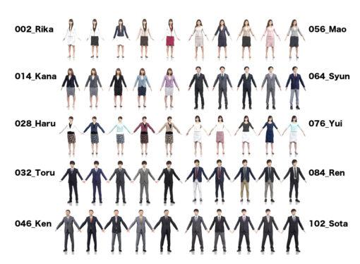 3D-PEOPLE-japanese-woman-set