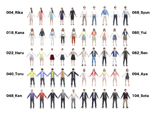 animation-3dmodel-set-asian-casual