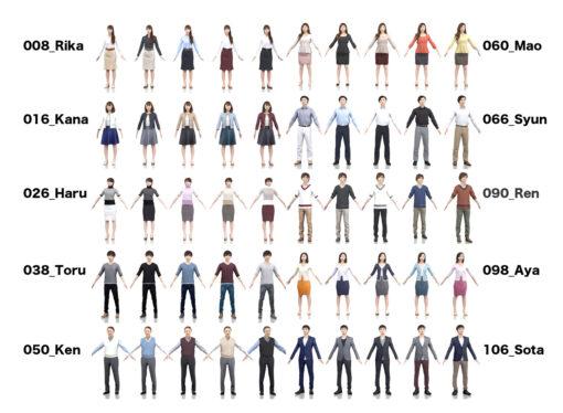 animation-3Dmodel-People-japan-casual-set