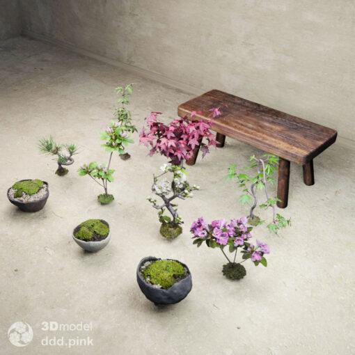 3Dmodel-苔玉-盆栽鉢
