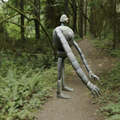 ラピュタのロボット兵3Dモデル