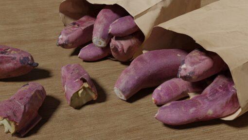 焼き芋3D無料素材