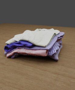 たたまれた洋服3Dモデル