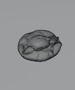 目玉焼き3Dフリーモデル素材