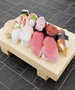 寿司フリー3Dモデル-寿司にぎりセット