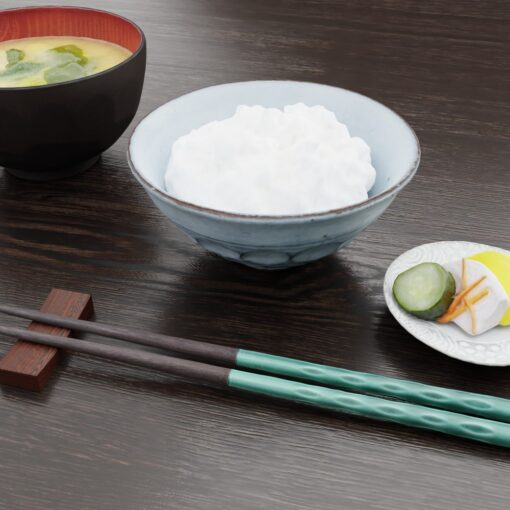 3Dモデル-茶碗
