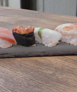 寿司フリー3Dモデル-皿のせ寿司にぎり