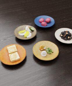 3Dモデル-しま模様小皿