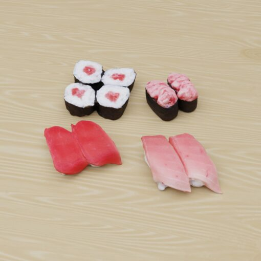 寿司フリー3Dモデル-まぐろ寿司