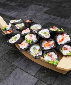 寿司フリー3Dモデル-手巻き寿司大盛り