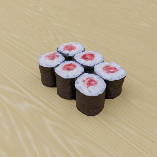 寿司フリー3Dモデル-鉄火巻き寿司