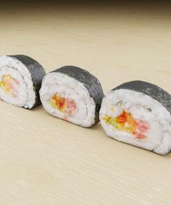 寿司フリー3Dモデル-3色巻き寿司