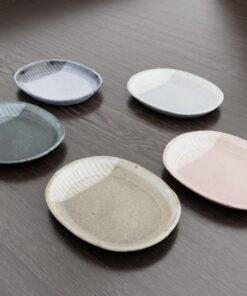 3Dモデル-楕円模様皿