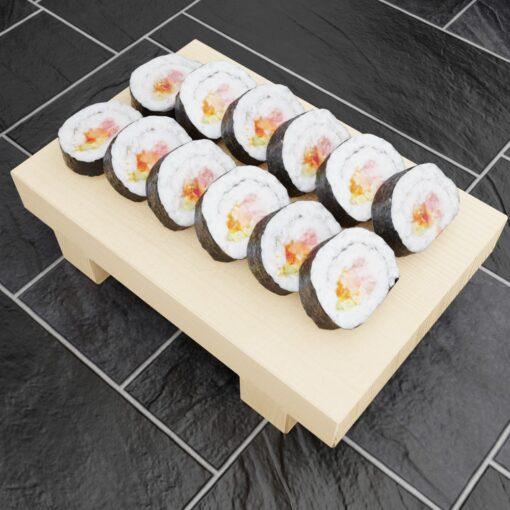 寿司フリー3Dモデル-巻き寿司大盛り