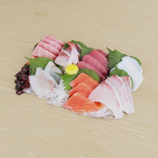 寿司フリー3Dモデル-刺身大盛り