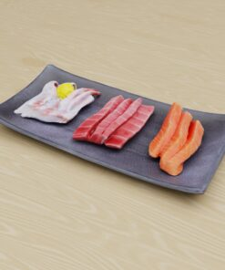 寿司フリー3Dモデル-刺身3色