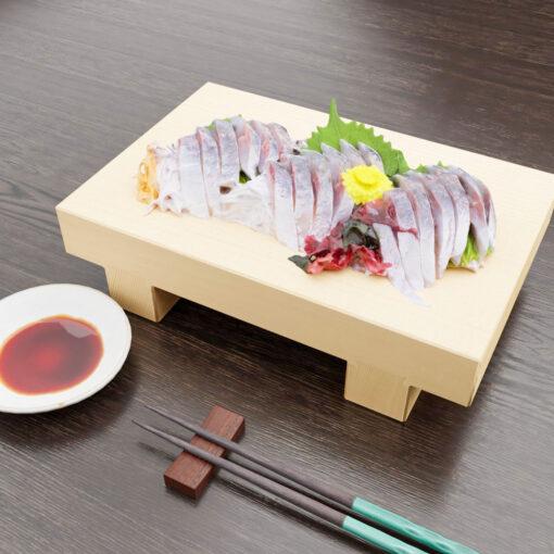 寿司フリー3Dモデル-刺身アジ