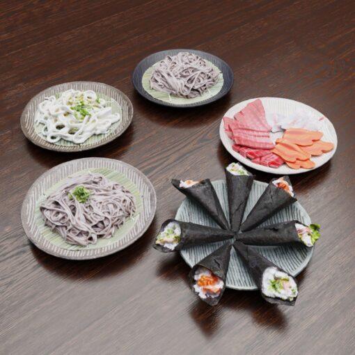 3Dモデル-しま模様皿