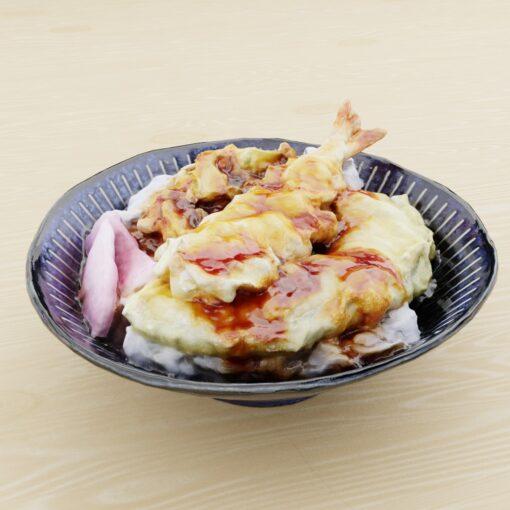 和食フリー3Dモデル-天丼
