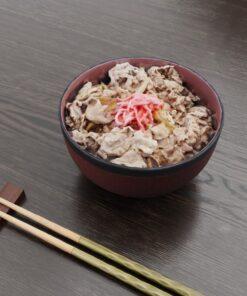 和食フリー3Dモデル-昼の牛丼