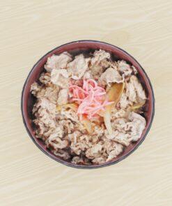 和食フリー3Dモデル-牛丼としょうが
