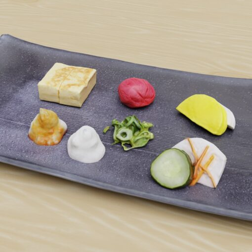 和食フリー3Dモデル-おしんこ
