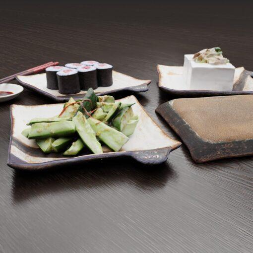 3Dモデル-角皿白黒
