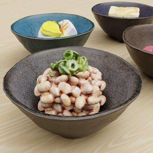 和食フリー3Dモデル-こんだて納豆