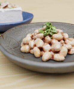 和食フリー3Dモデル-ねぎ納豆