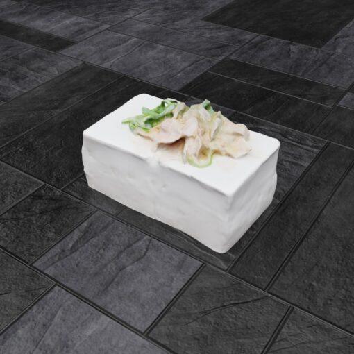 和食フリー3Dモデル-豆腐