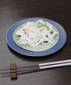 和食フリー3Dモデル-涼しいうどん