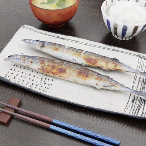和食フリー3Dモデル-さんま定食