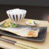 和食フリー3Dモデル-朝のこんだて