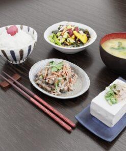 和食フリー3Dモデル-ごぼうサラダと朝食