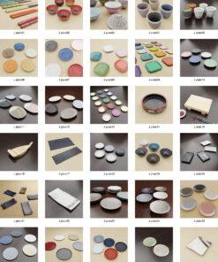 3Dモデル和食器素材カタログ