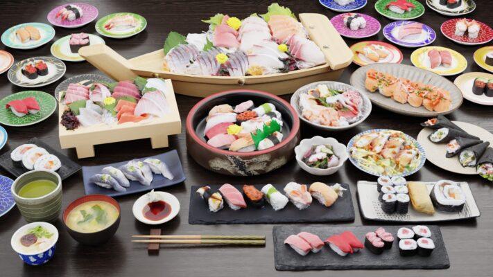 Sushi-free3Dmodels-寿司3Dフリーモデル